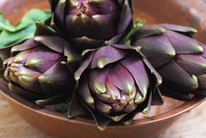 Close-up of tasty artichokes